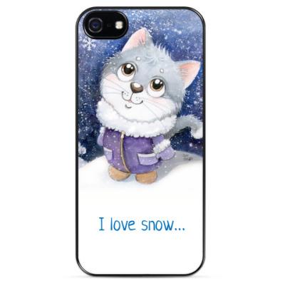 Чехол для iPhone Снег идет