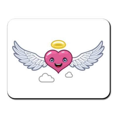 Коврик для мыши  сердце-ангел
