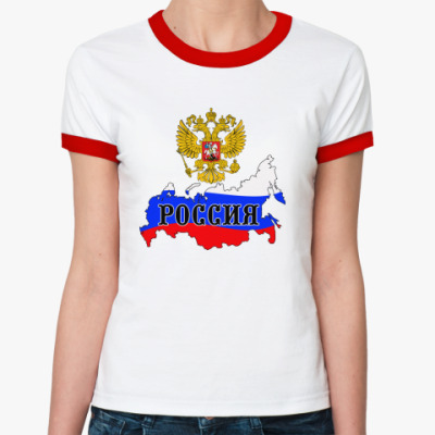 Женская футболка Ringer-T Россия