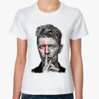 Классическая женская футболка David Bowie