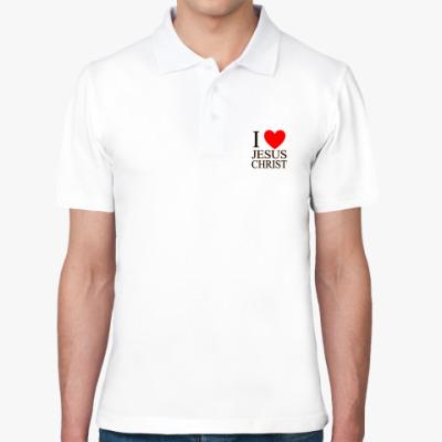 Рубашка поло I love Jesus