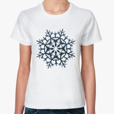 Классическая футболка Ледяная снежинка