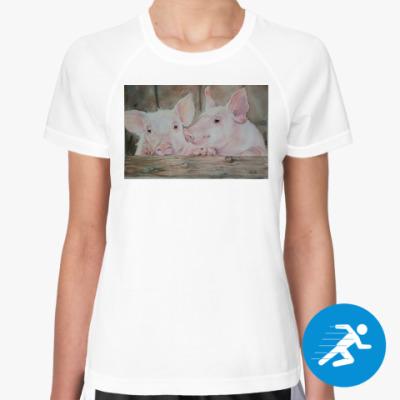 Женская спортивная футболка Сладкая парочка символ года