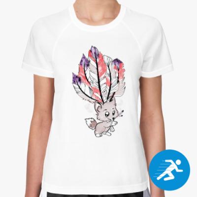 Женская спортивная футболка Лисёнок