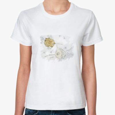 Классическая футболка Космические рыбки