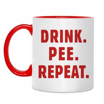 Кружка Drink. Pee. Repeat.