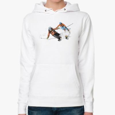 Женская толстовка худи Лыжницы
