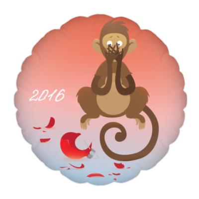 Подушка Обезьянка 'Доброго Нового 2016 года'