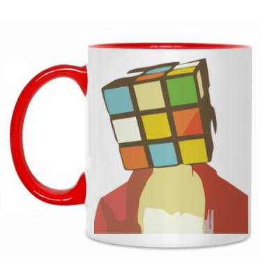 Кружка Голова Кубик Рубик
