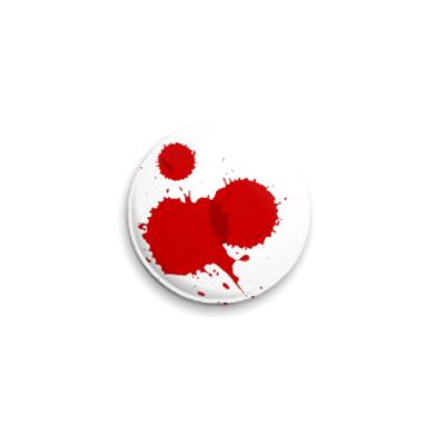 Значок 25мм Брызги крови