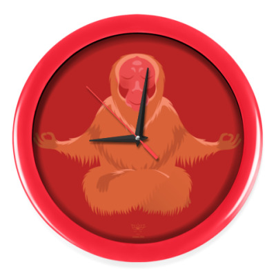 Настенные часы Animal Zen: U is for Uakari