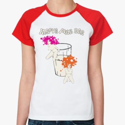 Женская футболка реглан Clockwork orange