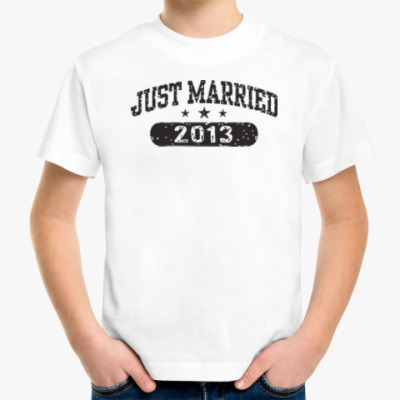 Детская футболка Just Married 2013