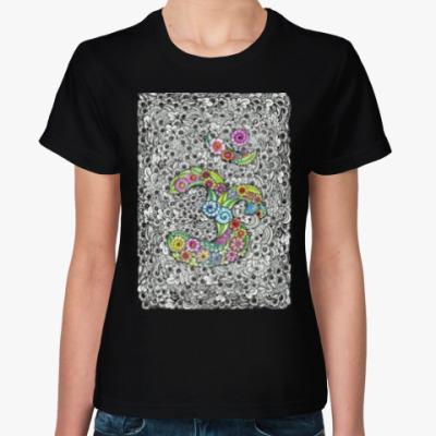 Женская футболка Священный символ ОМ (АУМ)