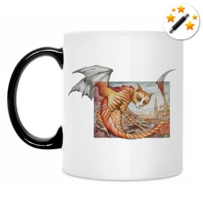 Кружка-хамелеон Кошачий дракон