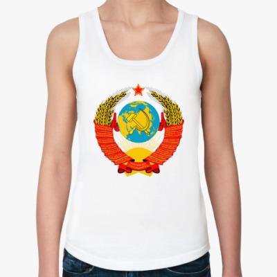 Женская майка 'Герб СССР'