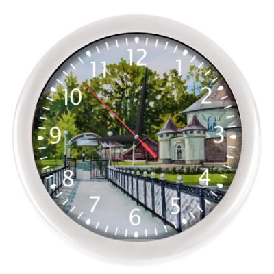 Настенные часы городской парк пейзаж Саранск акварель