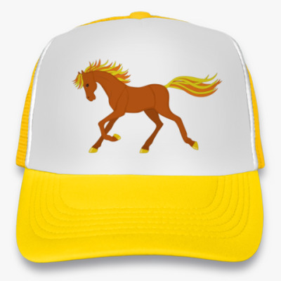 Кепка-тракер Running red horse