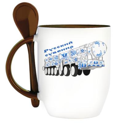 Кружка с ложкой Русский сувенир