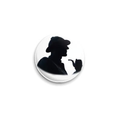 Значок 25мм ``Шерлок Холмс``