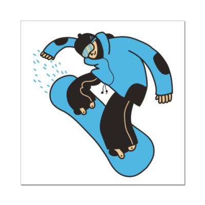 Наклейка (стикер) snowboard