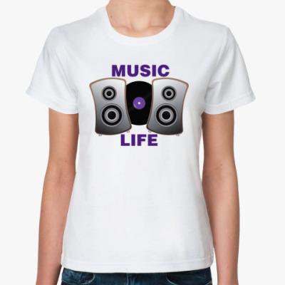 Классическая футболка  Music Life