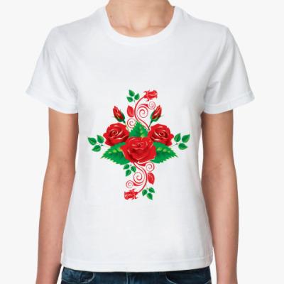 Классическая футболка Розы