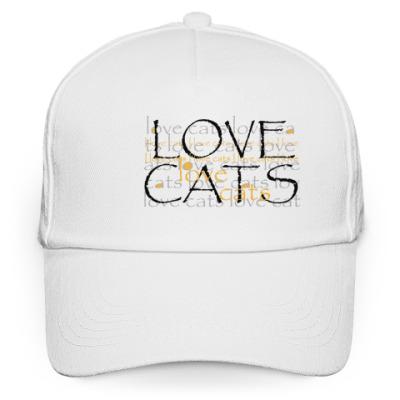 Кепка бейсболка Люблю кошек