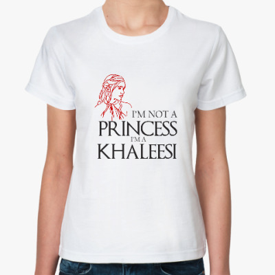 Классическая футболка Game of thrones. KHALEESI