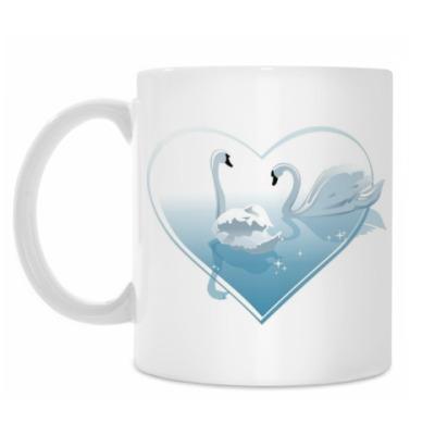 Кружка Лебеди в сердце