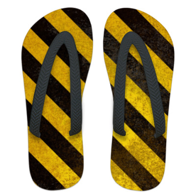 Шлепанцы (сланцы)  Caution Stripes