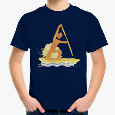 Детская футболка Гребля