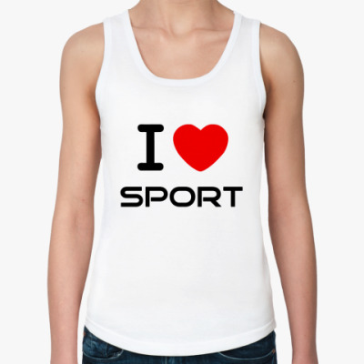 Женская майка я люблю спорт