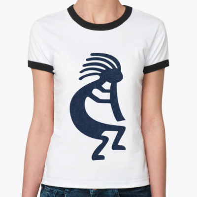 Женская футболка Ringer-T   Индеец