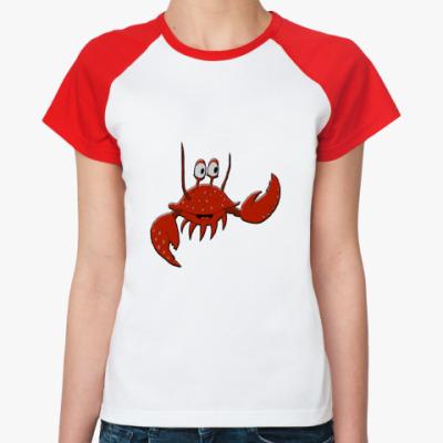 Женская футболка реглан   Краб