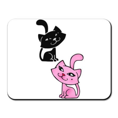 Коврик для мыши Влюбленные коты