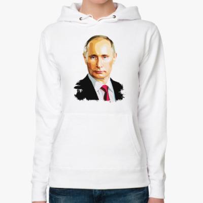 Женская толстовка худи Путин