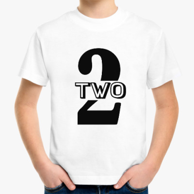 Детская футболка Два (two)