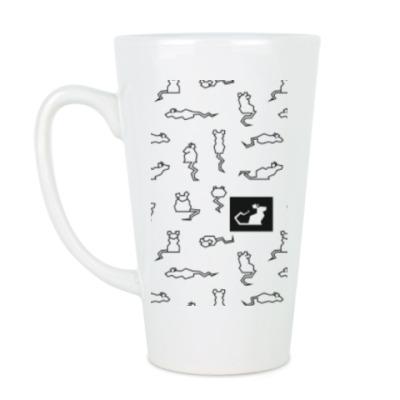 Чашка Латте Узор из крыс