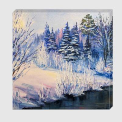 Холст 'Снежный лес'
