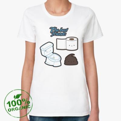 Женская футболка из органик-хлопка The best friends