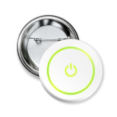 Значок 50мм X360 Power Button