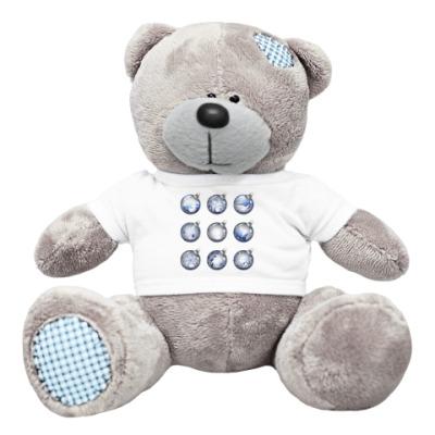 Плюшевый мишка Тедди Новогодние шары