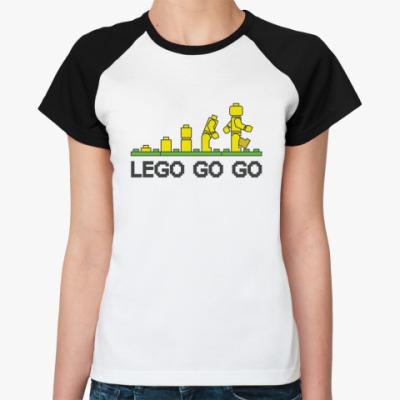 Женская футболка реглан Lego go
