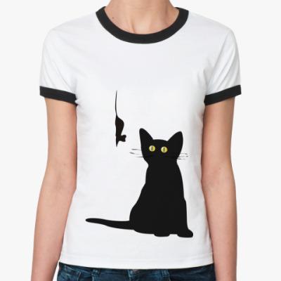 Женская футболка Ringer-T Охотник