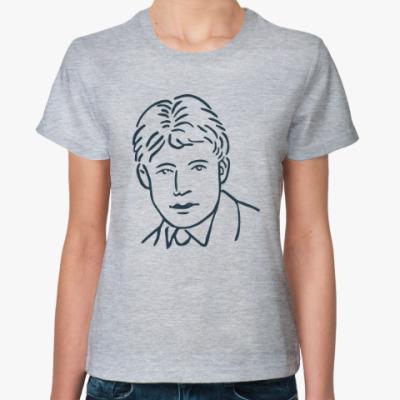 Женская футболка Есенин