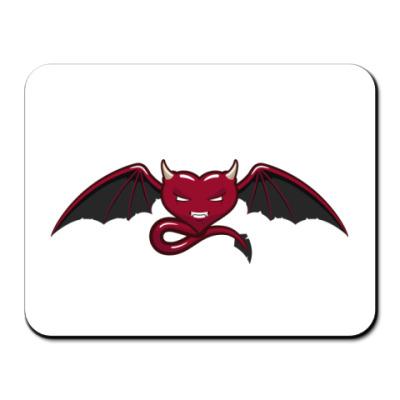 Коврик для мыши  сердце-дьявол