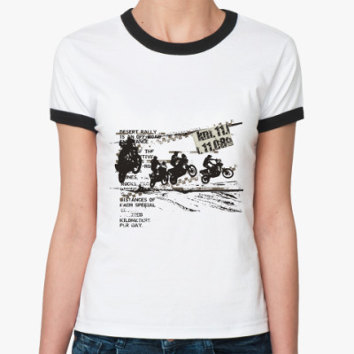 Женская футболка Ringer-T Мотокросс