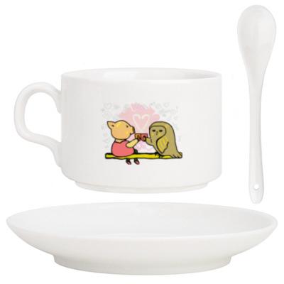 Кофейный набор Поросенок пьет чай. Символ Нового года.