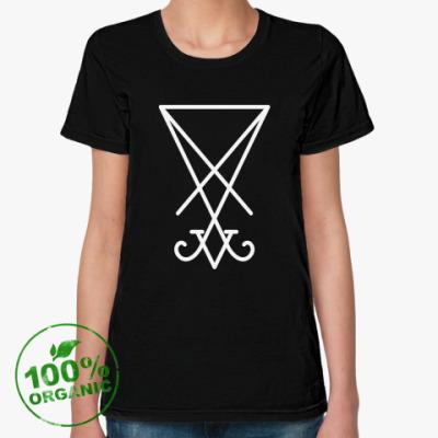 Женская футболка из органик-хлопка Сигил Люцифера / Sigil of Lucifer